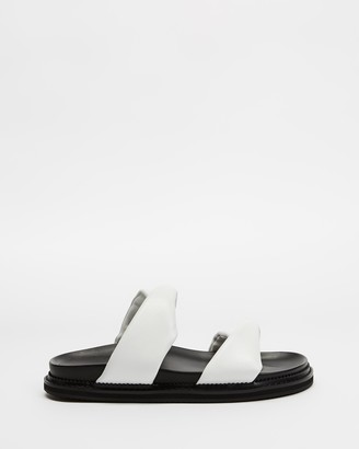 Mae Women's White Flat Sandals - Paris - Size 36 at The Iconic