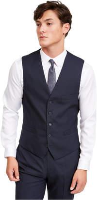 INC International Concepts Inc Men Slim-Fit Micro Check Suit Vest