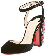 Christian Louboutin Madona Floral Red Sole Pump