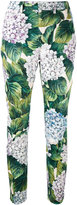 Dolce & Gabbana floral skinny trousers - women - Cotton/Spandex/Elastane - 40