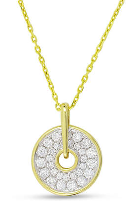 Frederic Sage Spinning Disc 18K Gold Necklace with Diamonds