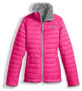 The North Face Girls' Reversible Mossbud Swirl Jacket, Pink, Size XXS-XL