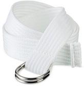 Mossimo Women's Web D Ring Belt - White