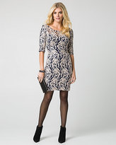 Le Château Sequin Lace Fitted Dress