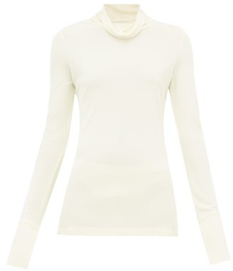 Joseph Roll-neck Crepe Blouse - Womens - Cream