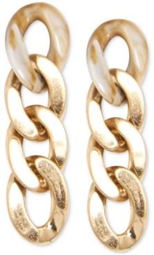 Zenzii Gold-Tone Chain Link Drop Earrings