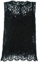 Dolce & Gabbana lace tank top - women - Silk/Cotton/Nylon/Viscose - 40