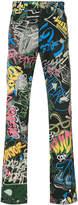 Loewe printed straight-leg jeans