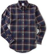 Brooks Brothers Plaid Regent-Fit Long-Sleeve Woven Shirt