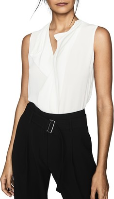 Reiss Keeley Ruffle Front Blouse