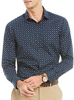 Hart Schaffner Marx Diamond Print Long-Sleeve Sportshirt