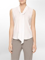 Calvin Klein Drape Tie Front Sleeveless Top