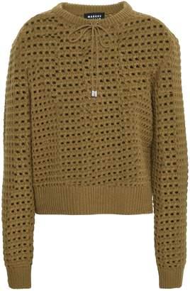 Markus Lupfer Open-knit Merino Wool Sweater