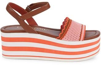 Kate Spade Highrise Spade Platform Wedge Sandals