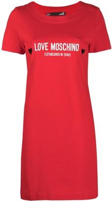 Love Moschino logo-print T-shirt dress