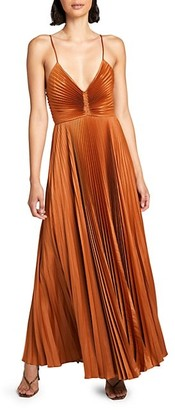 A.L.C. Aries Pleated Maxi Dress