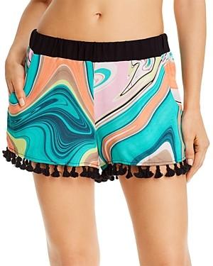 Trina Turk Nazare Swim Cover-Up Shorts