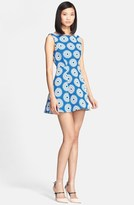 Alice + Olivia 'Epstein' Floral Woven Flared Dress