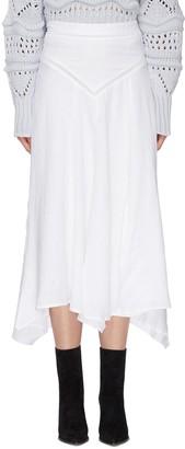 Etoile Isabel Marant Yoke waist A-line linen skirt