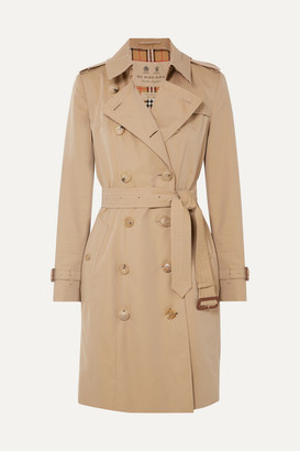 Burberry The Chelsea Cotton-gabardine Trench Coat - Beige