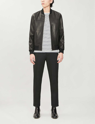 The Kooples Stand collar leather jacket