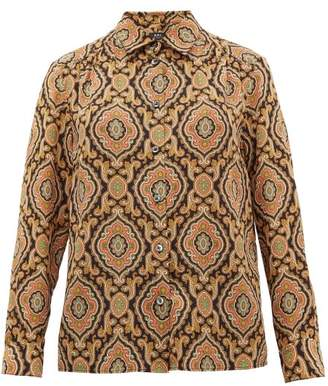 A.P.C. Sutton Paisley-print Silk Shirt - Womens - Multi
