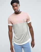 Le Breve Cut and Sew Longline Layered T-Shirt