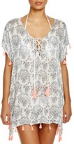 Surf Gypsy Neon Tassel Printed Tunic Cover-Up