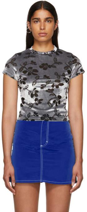Eckhaus Latta Grey Shrunk T-Shirt
