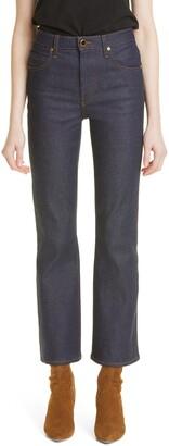 KHAITE Vivian High Waist Crop Flare Jeans