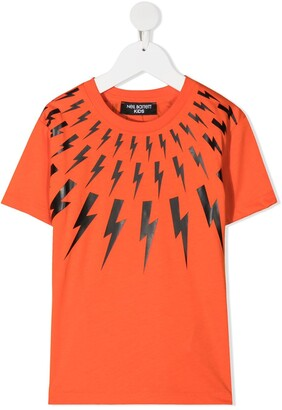 Neil Barrett Kids thunderbolt-print T-shirt