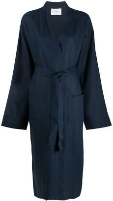 Sleeper Long Sleeve Belted Coat