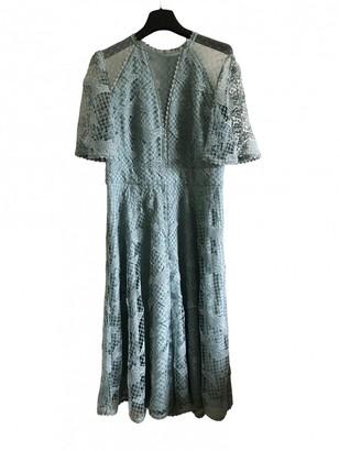 Temperley London Blue Lace Dress for Women