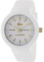 Lacoste Men's Borneo 2010684 White Silicone Analog Quartz Watch
