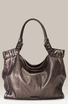 Metallic Leather Hobo