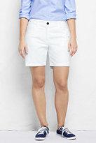 "Classic Women's Plus Size Mid Rise 7"" Chino Shorts-Black Veranda Floral"