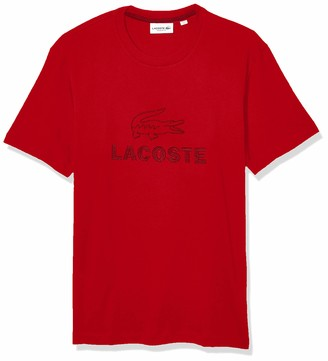 Lacoste Mens Short Sleeve Supple Jersey Graphic Animation T-Shirt T-Shirt