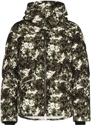 Moncler Blanc camouflage-print down jacket