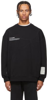 A-Cold-Wall* Black Mission Statement Classic Flat Sweatshirt