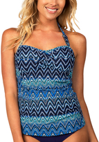 Leilani Navy Twist Tankini Top