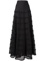 Givenchy ruffle trim flared skirt