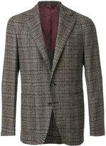 Caruso check blazer - men - Cotton/Nylon/Cupro/Bemberg - 50
