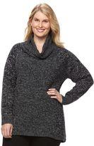 Croft & Barrow Plus Size Marled Cowlneck Sweater