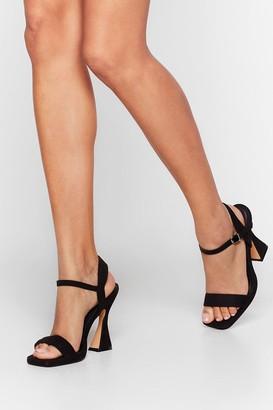 Nasty Gal Womens Make 'Em Flare Faux Suede Heels - Black