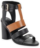 Sigerson Morrison Coria Leather Block Heel Sandals