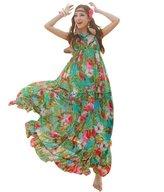 Yacun Women's Bohemianloral Print Chion Maxi Casual Slip Dress XG9931A