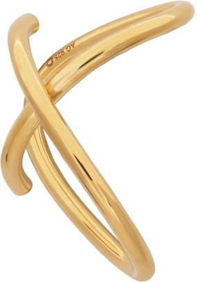 Saskia Diez Gold Cross Wire Ear Cuff
