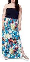 Rachel Roy Plus Size Women's Strapless Mixed Media Maxi Dress