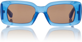 Dries Van Noten Blue Regtangular Sunglasses