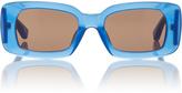 Dries Van Noten Blue Regtangular Sunglasses